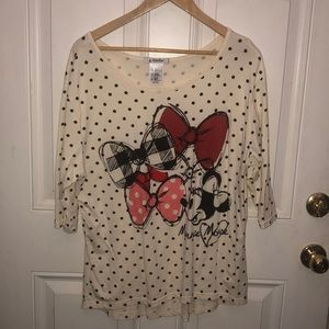 Polka dot Minnie Mouse shirt